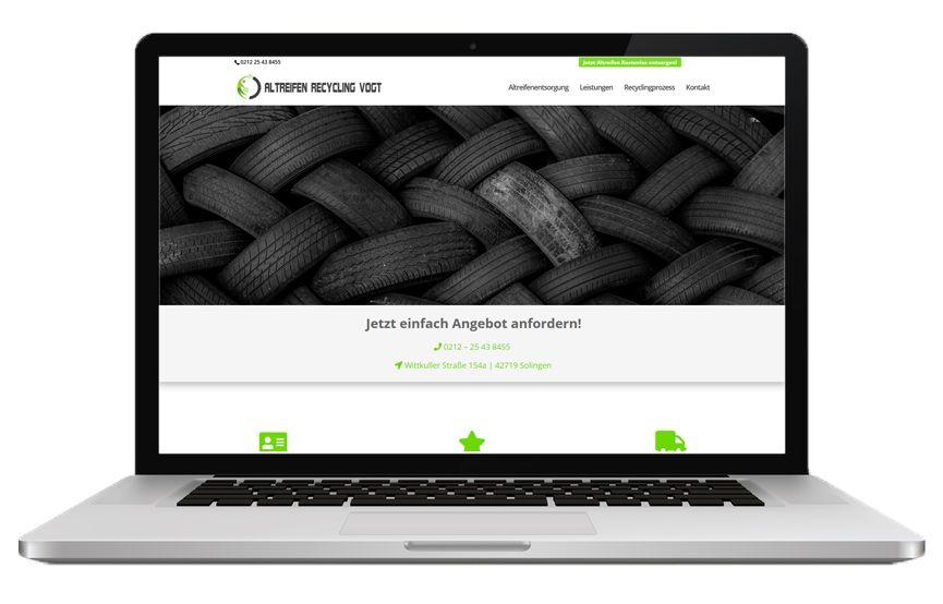 Altreifen Recycling Vogt Desktop Demo